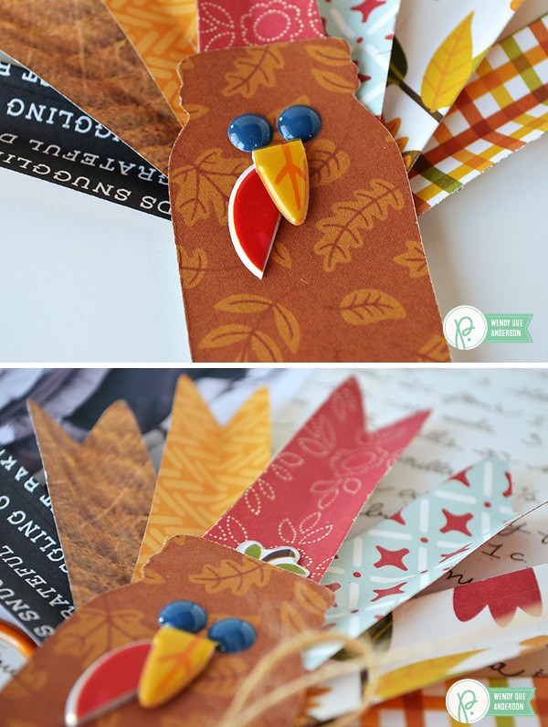 "Thanksgiving Turkey Day Layout by @Wendysuea made with the ""Harvest"" collection by @Pebblesinc"