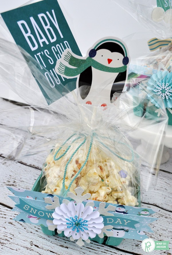 "A quick handmade gift idea by @wendysuea with the ""Winter Winderland"" collection by @pebblesinc!"