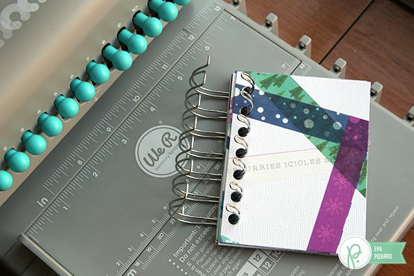 Washi Paper mini album by @evapizarrov using the new #WinterWonderland collection by @pebblesinc