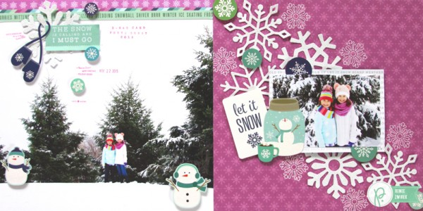 Let It Snow Double Page Layout