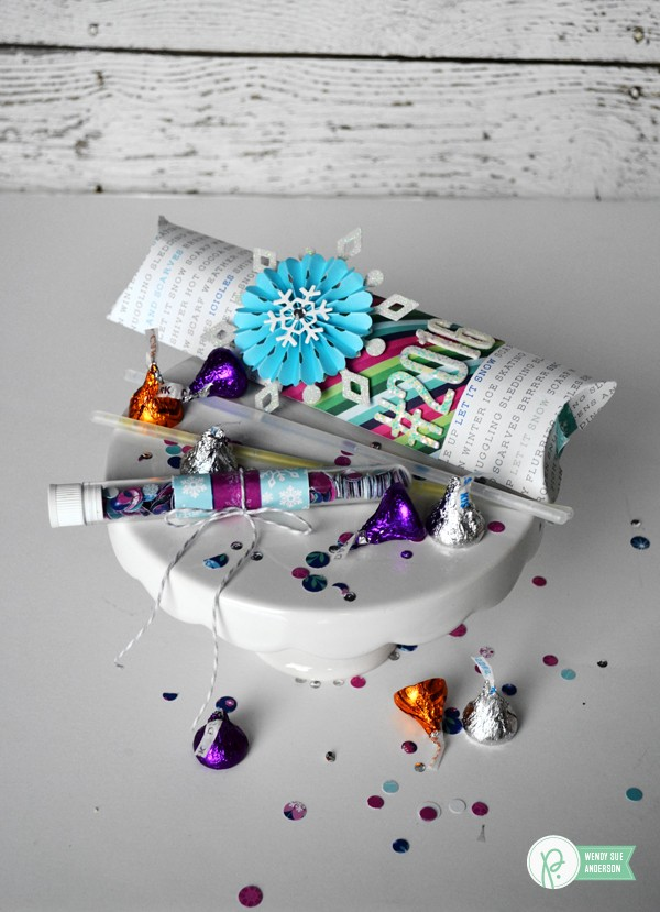 "New Year's Eve Confetti Tubes and Gift Box by @wendysuea for #PebblesInc with the ""Winter Wonderland"" collection"