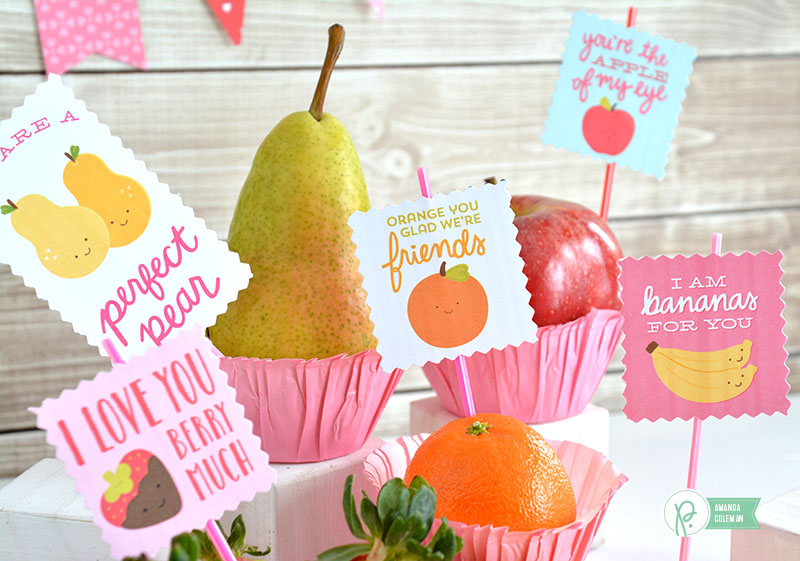 Valentine's Day Party Fruit by @amanda_coleman1 using @pebblesinc Be MIne collection