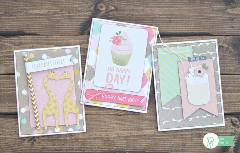 The @pebblesinc #SpringFling collection is the perfect collection to help you celebrate any occasion. Here are several ideas from @thehappyscraps.