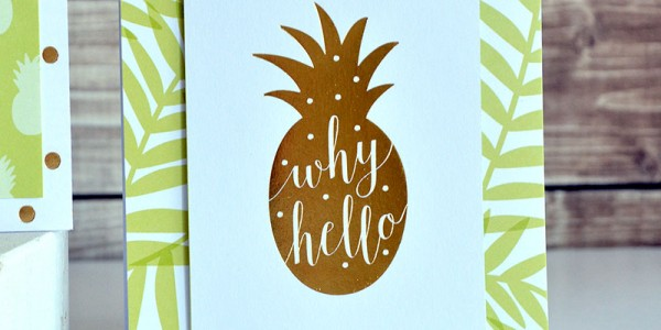 Green and Gold Hello Cards