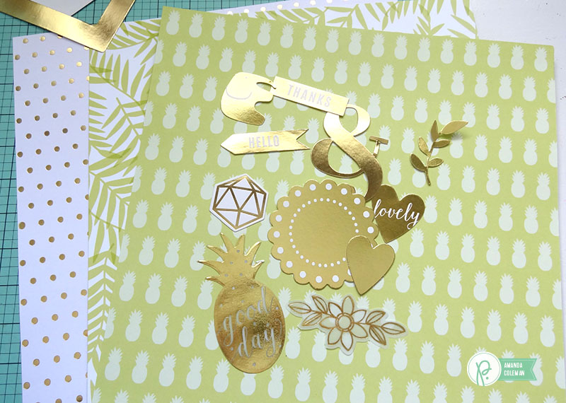 Green and Gold Hello Cards by @amanda_coleman1 using @pebblesinc Everyday collection