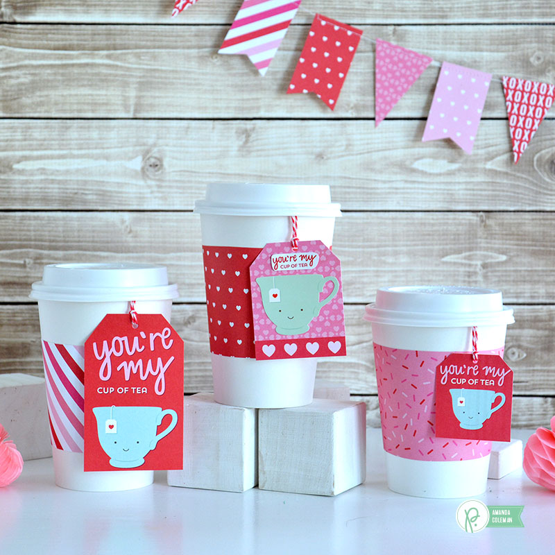 My Cup of Tea Quick Valentine's Day Gift by @amanda_coleman1 using @pebblesinc Be Mine collection