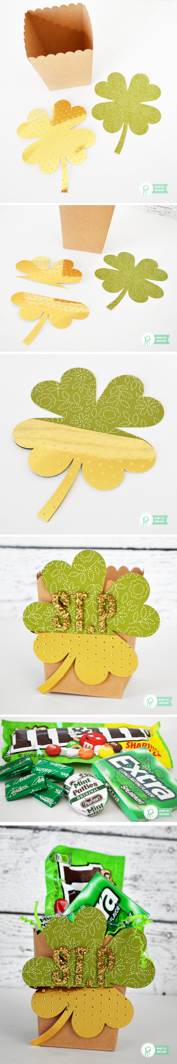 St. Patrick's Day Quick Gift - Treat ideas by @wendysue for @pebblesinc.