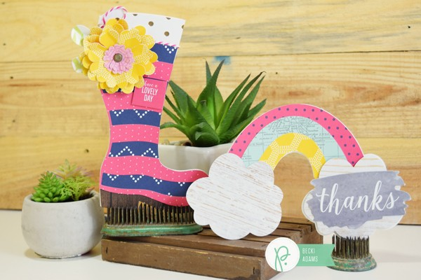 DIY Shaped Spring Cards by @jbckadams for @pebblesinc and @tatertotsandjello
