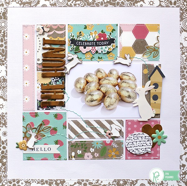 Easter Layout by @evapizarrov using the new #SpringFling collection by @pebblesinc