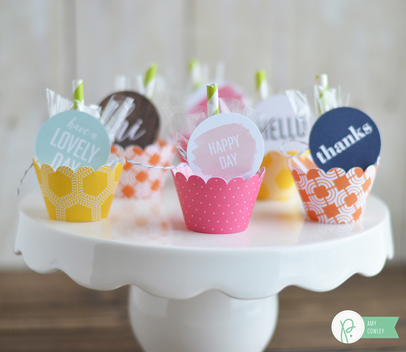 Brighten a friends rainy April day with these cute Umbrella Treat Gifts from @thehappyscraps on the @pebblesinc blog. Made using the #everyday collection.