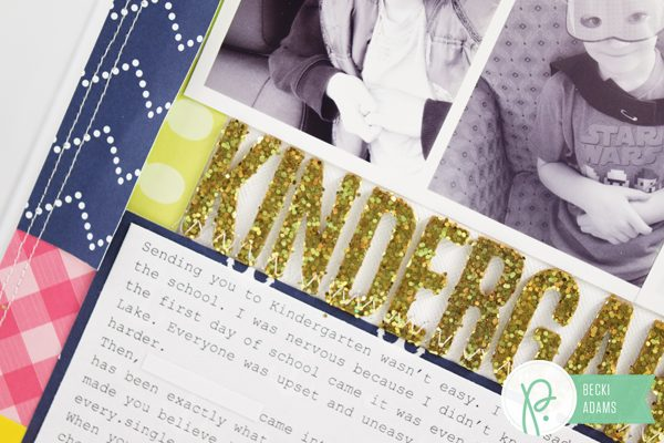 Teacher Appreciation Layout by @jbckadams for @pebblesinc #scrapbooking #teacherappreciation #pebblesinc