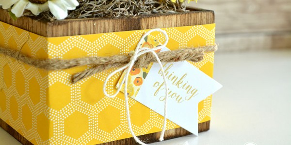 Yellow Flower Gift Box