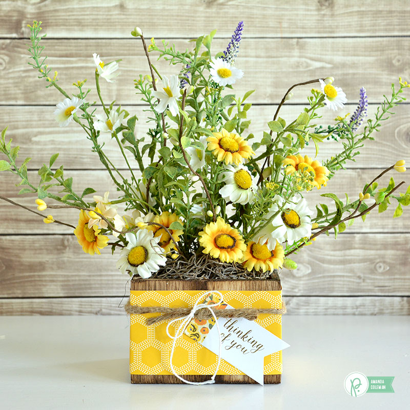 Yellow Flower Gift Box by @amanda_coleman1 using @pebblesinc Everyday collection