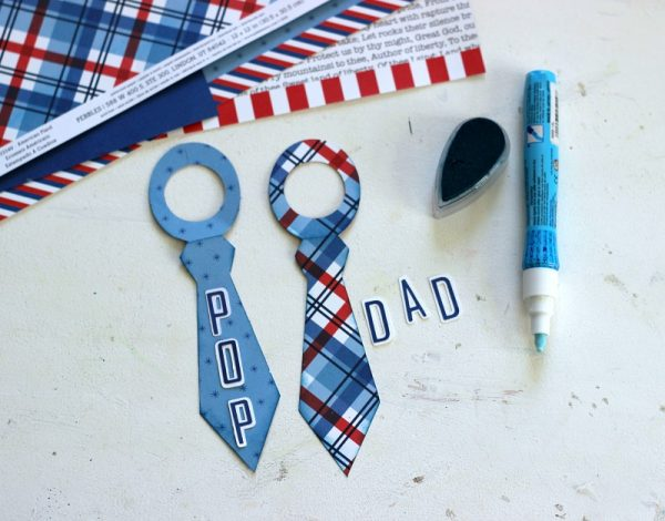 Father's Day Bottle Toppers made with Silhouette and @pebblesinc America the Beautiful collection. Project created by @ribbonsandglue