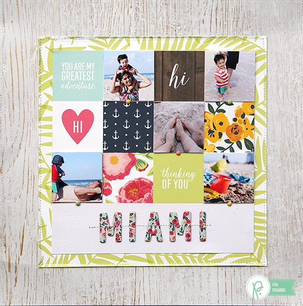 Beach Layout by @evapizarrov using #Everyday line by @tatertotsandjello and @pebblesinc