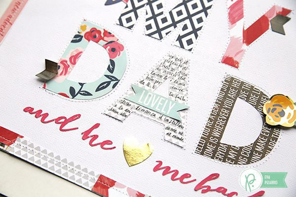 Handcut letters layout by @evapizarrov using #everyday collection by @pebblesinc