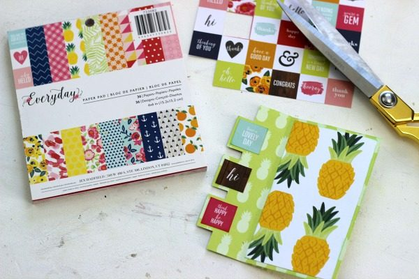 Pineapple Fun Swing Card made with @pebblesinc Everyday collection