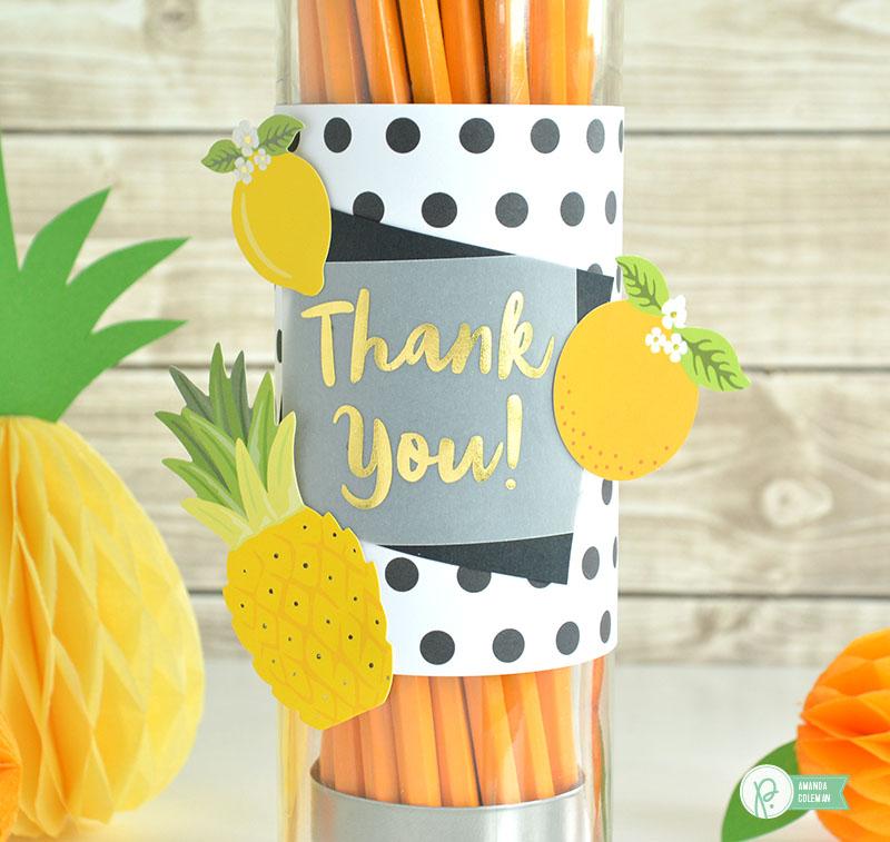Teacher Appreciation Pencil Dispenser by @amanda_coleman1 using @pebblesinc Everyday collection