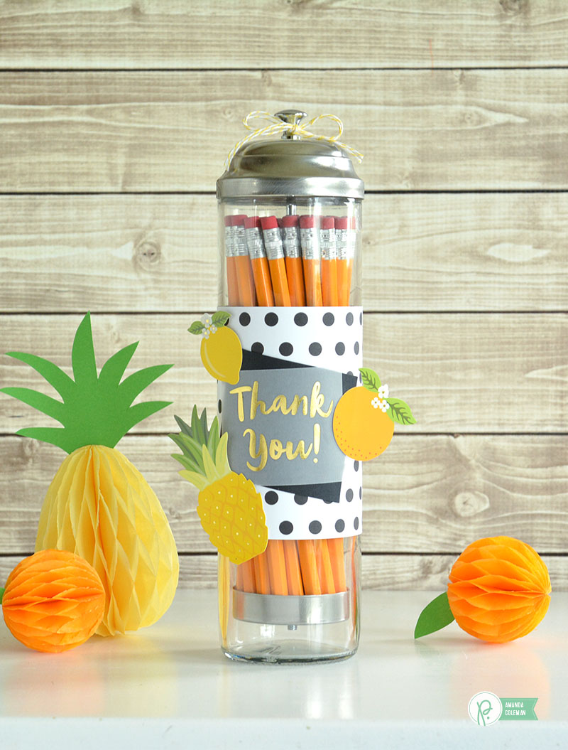 Teacher Appreciation Pencil Dispenser by @amanda_coleman1 using @pebblesinc Everyday collection