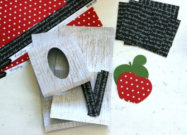 Teacher Tissue Box made with @pebblesinc Everyday collection and Silhouette