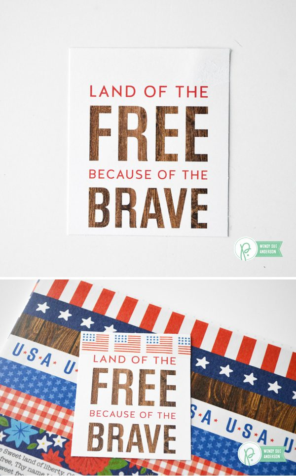 "Memorial Day Decoration/Quick Gift Project by @wendysue with the ""America the Beautiful"" collection by @pebblesinc."