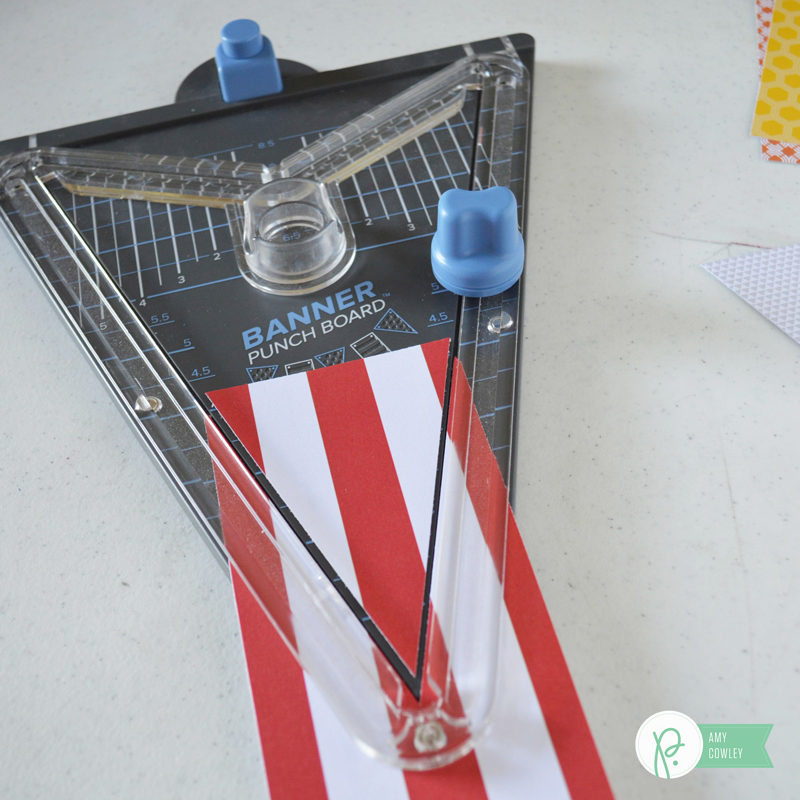 Make and easy weekend fun activity banner with #jenhadfieldeveryday and @pebblesinc with this tutorial from @thehappyscraps.