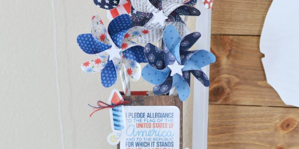 Red, White & Blue Pinwheel Decor