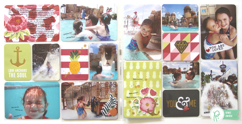 Documenting pool time with these Disney Pocket Pages by @reneezwirek using the #JHEveryday collection by @pebblesinc and @Tatertots and Jello .com