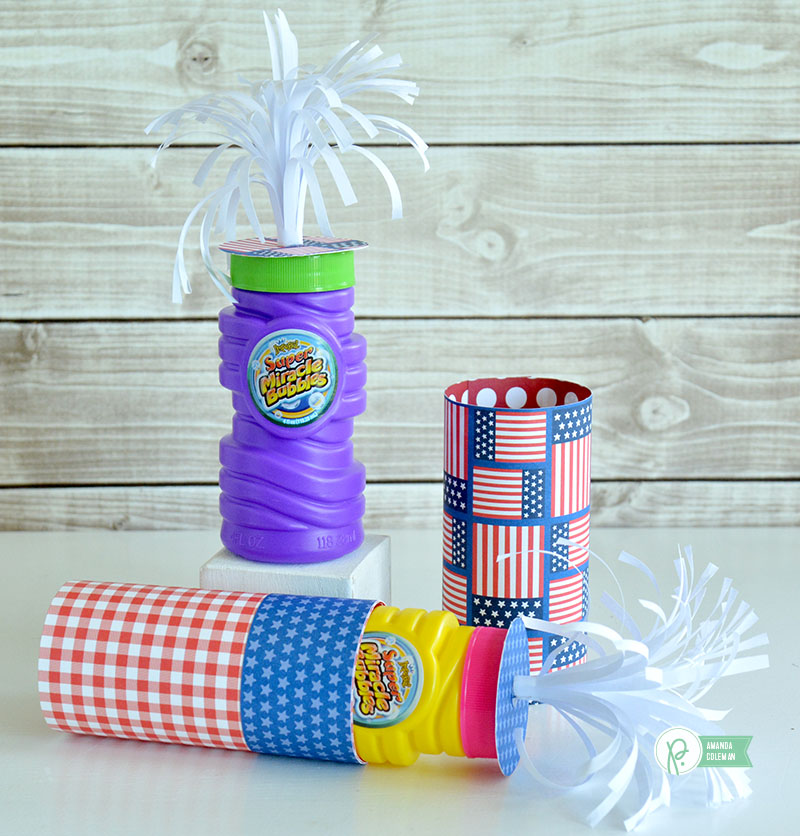 Firecracker Bubbles Quick Gift by @amanda_coleman1 using @pebblesinc America the Beautiful collection