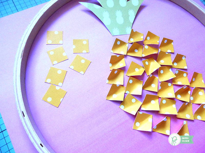 DIY Pineapple Hoop Decor by @amanda_coleman1 using @pebblesinc Everyday collection