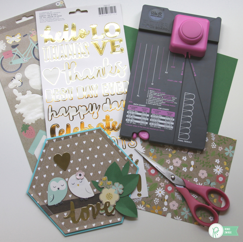 Sending Happy Anniversary wishes with these Anniversary cards by @reneezwirek using the #SpringFling collection by @pebblesinc
