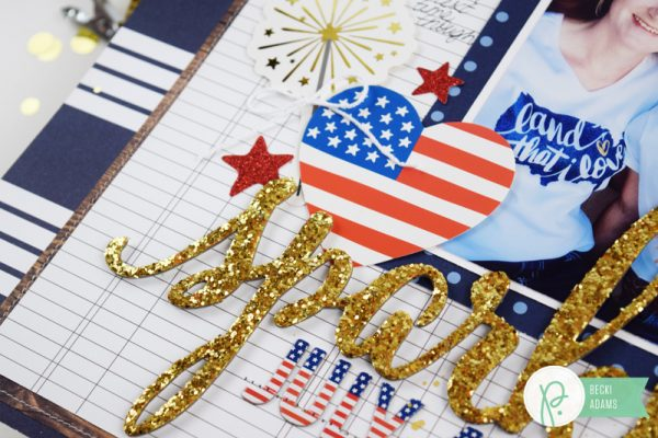 Fourth of July Layout created by @jbckadams for @Pebblesinc #scrapbook #FourthofJuly #PebblesInc