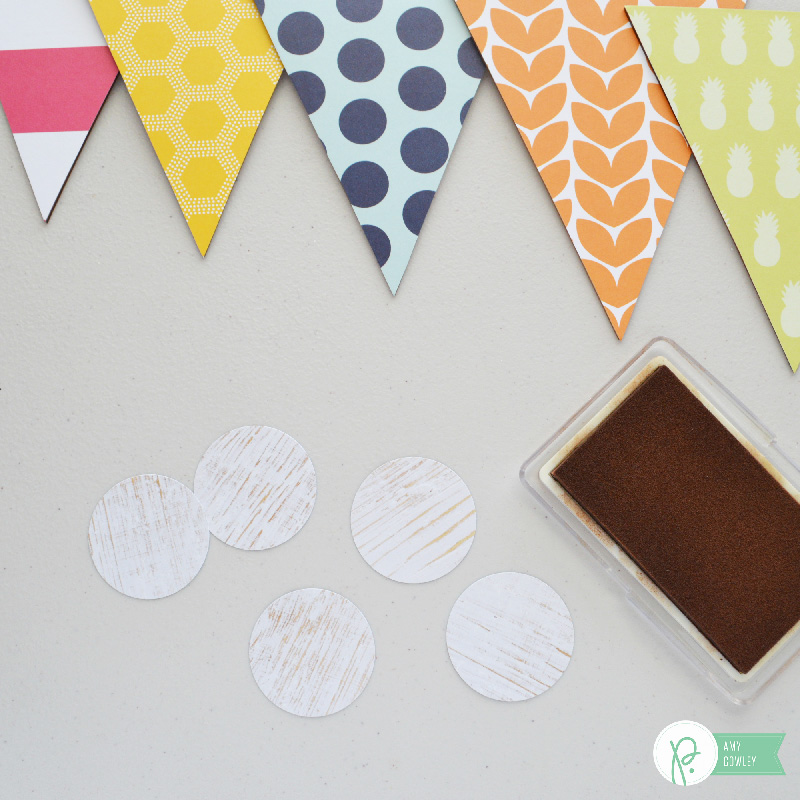 Create this Simple Hello Banner with a few supplies from the Jen Hadfield Everyday Collection and the tutorial from @thehappyscraps on the @pebblesinc blog.