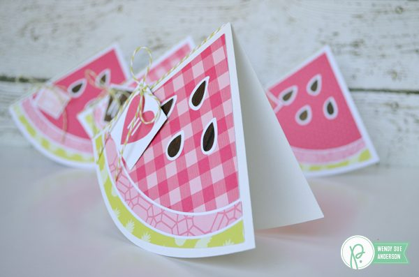 "watermelon shaped summertime card set by @WendySue for @Pebblesinc. with the ""Everyday"" collection"