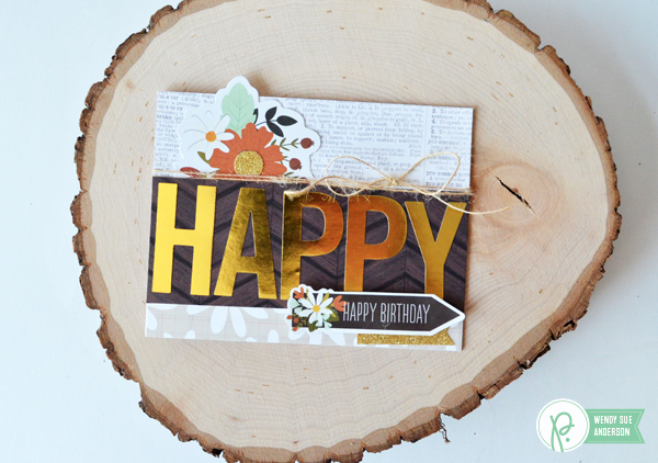 Cards with big titles by @wendysue with the #WarmAndCozy collection by @pebblesinc