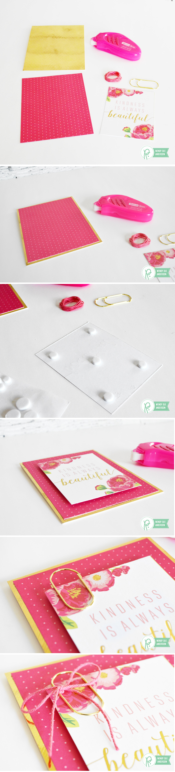 """Pink Cards and Lined Envelopes by @wendysue with the """"""""Everyday"""" collection by @Pebblesinc."""