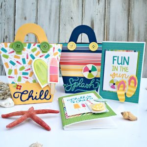 Beach Gift Bags and Mini Albums by Heather Leopard