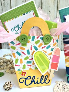 Beach Gift Bags with gifts by Heather Leopard