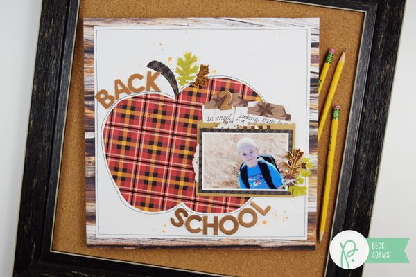 Back to School scrapbooking by @jbckadams for @pebblesinc #backtoschool #scrapbooking #pebblesinc #madewithpebbles