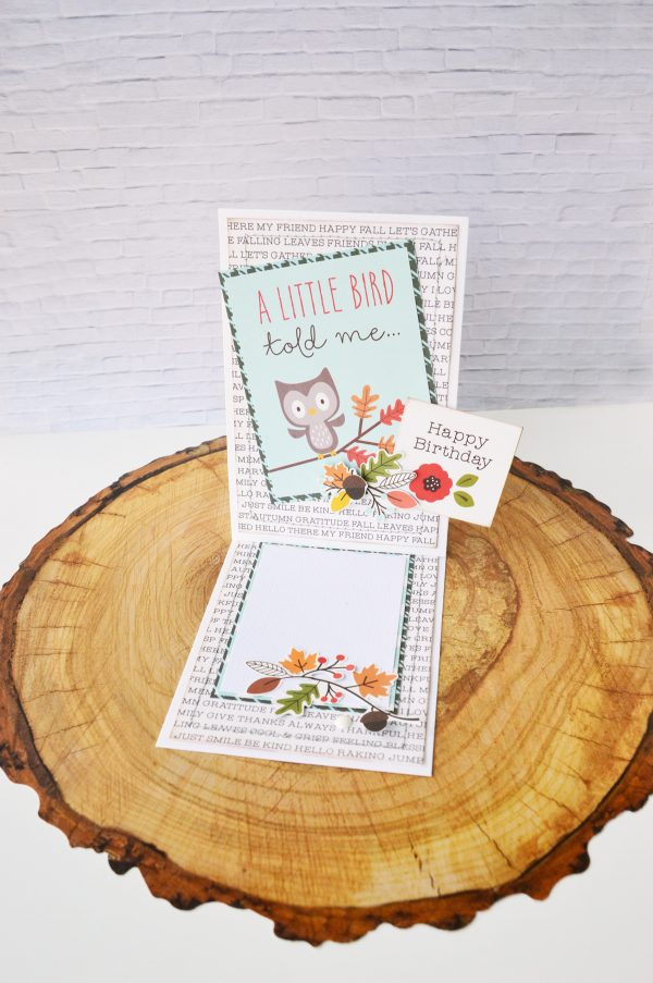 Get ready to make easy journaling spots to include and display on your next set of cards created by @leanne_allinson for @PebblesInc. #warmandcozy #woodlandforest