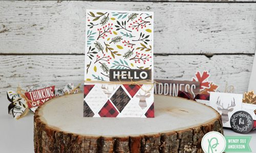 Warm & Cozy Geometric Boxes and Scraps Card