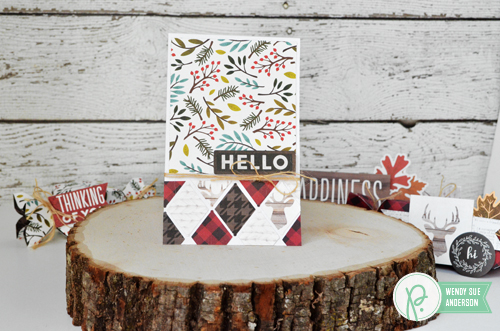 """Treat Boxes and Geometric Scraps Card by @wendysue with the """"Warm & Cozy"""" collection by @pebblesinc"""