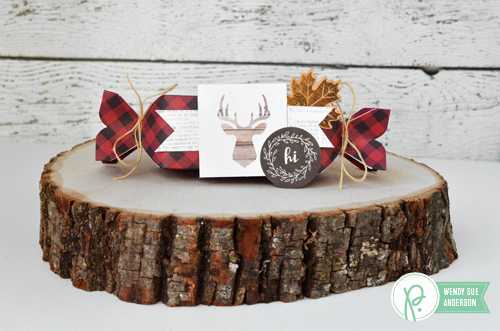 "Treat Boxes and Geometric Scraps Card by @wendysue with the ""Warm & Cozy"" collection by @pebblesinc"