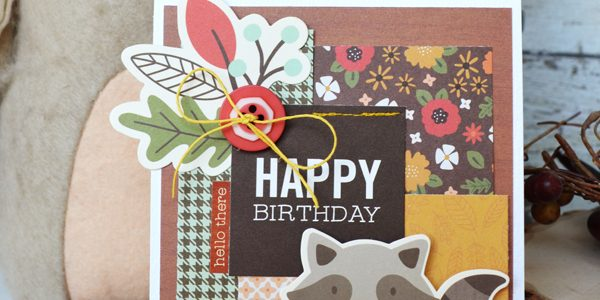 Woodland Forest Birthday Card Set