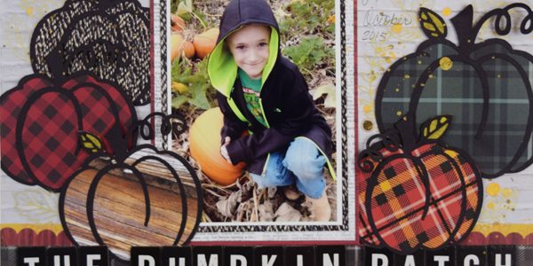 Pumpkin Patch Layout by @jbckadams for @pebblesinc #scrapbooking #fall #layout #papercrafting