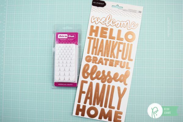 DIY Fall Welcome Sign by @jbckadams for @pebblesinc using the Warm & Cozy collection by @tatertotsandjello #DIY #FALL #Fallhomedecor #pebblesinc #warmandcozy