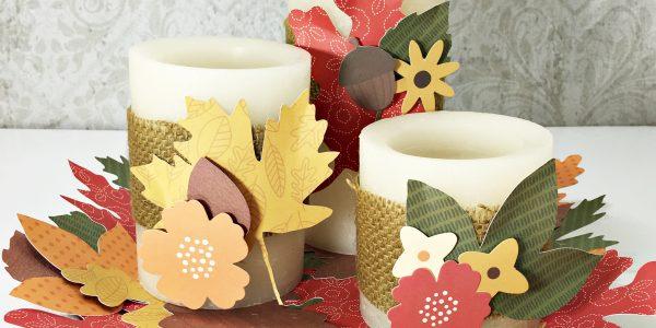 DIY Fall Candle Wrap Decor