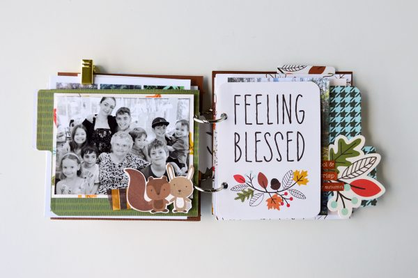 Create a mini album with all those various special moments photos that don't always get used thanks to @PebblesInc and @leanne_allinson using the #WoodlandForestcollection.