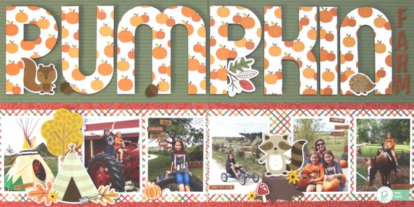 Pumpkin Farm Double-Page Layout