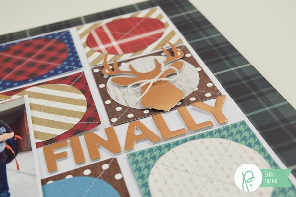 Circles and Squares layout by @jbckadams for @pebblesinc #scrapbooking #pebblesinc #processvideo